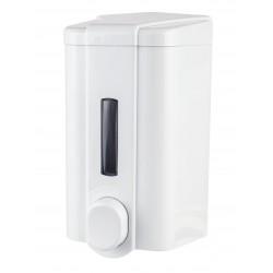 Dozownik Eco do mydła w płynie o pojemności 0.5l zamykany na kluczyk. Posiada okienko do kontroli ilości mydła