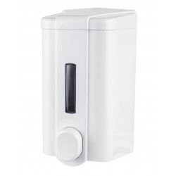 Dozownik Eco do mydła w płynie 1l zamykany na kluczyk. Posiada okienko do kontroli ilości mydła